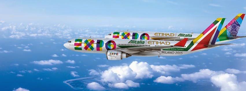 Aerei Alitalia e Etihad con la librea Expo 2015