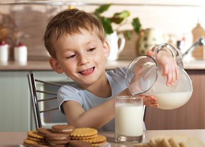 Consumo leche niños