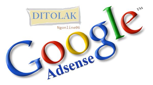 solusi ditolak google adsense