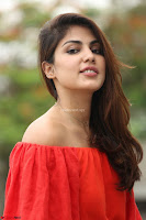 Rhea Chakraborty in Red Crop Top and Denim Shorts Spicy Pics ~  Exclusive 148.JPG