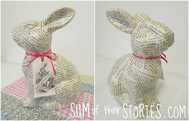 Alice in wonderland Decoupage bunny