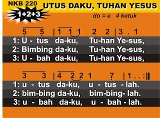 Lirik dan Not NKB 220 Utus Daku, Tuhan Yesus