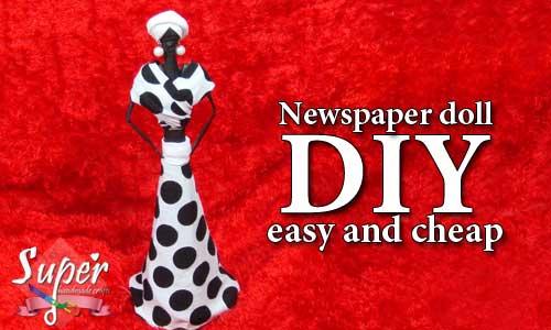 كيف تصنع عروسة أفريقية (دمية) من الورق