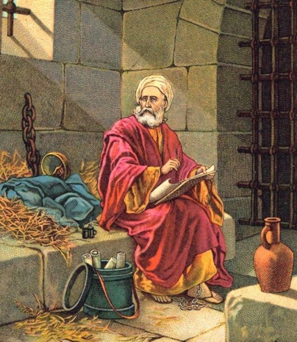 Paul, the aged apostle, in his sixties, sat alone in his dark and damp prison cell in Rome.