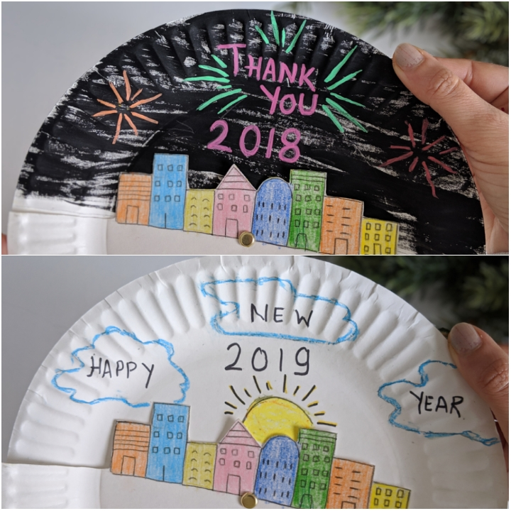 New Year S Eve Paper Plate Craft For Kids The Joy Of Sharing
