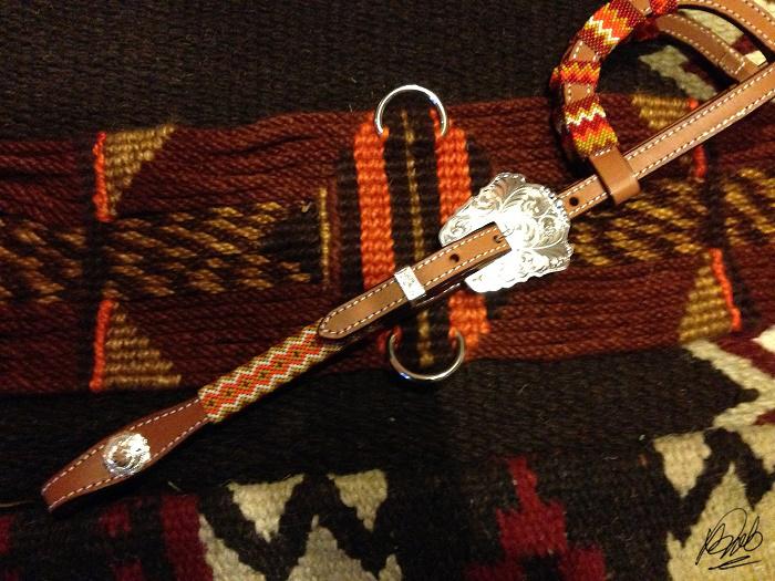 custom beaded headstall to match cinch
