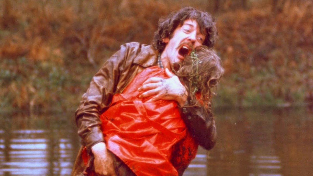 Donald Sutherland as John in Don't Look Now, hysterical at the sudden death of his daughter, directed by Nicholas Roeg