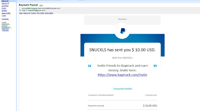 Baymack Latest payment Proof :