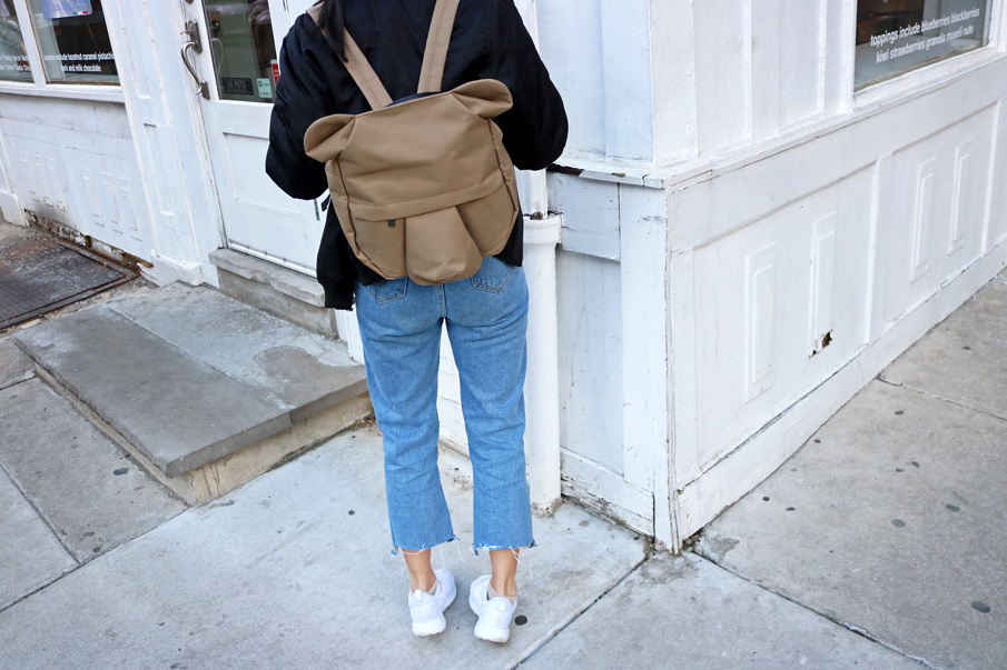 Quirky Animal Backpack Jeans Sneakers