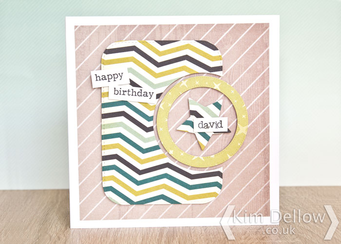 Superhero inspired die-cut card by Kim Dellow