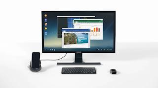 Samsung Dex ofrece una experiencia de escritorio con la tablet.