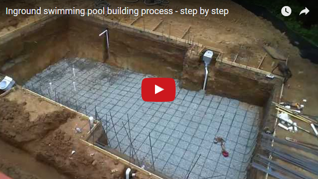 Scg virals inground swimming pool building process step - Steps to build an inground swimming pool ...