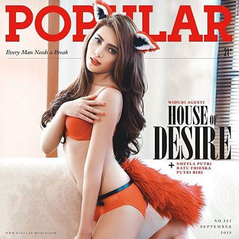 Pose Hot Widuri Agesti Di Majalah Popular World September 2015 Bikin Mupeng