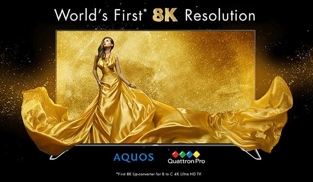 Sharp Announces 70 inches Aquos 8K TV