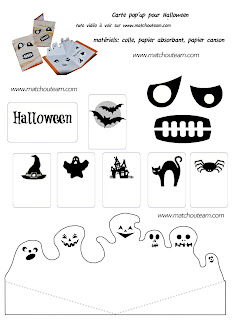 carte halloween pop'up
