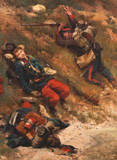 Édouard Detaille Fantassins dans un chemin creux, Bataille de Champigny