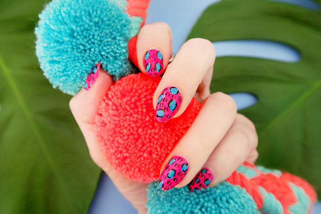 leopard nail art, blogger, nail design