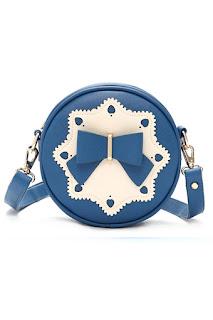 Beibaobao กระเป๋าสะพาย แบบมีหูหิ้้ว กระเป๋าแฟชั่น เกาหลี รุ่น 082 (Blue)