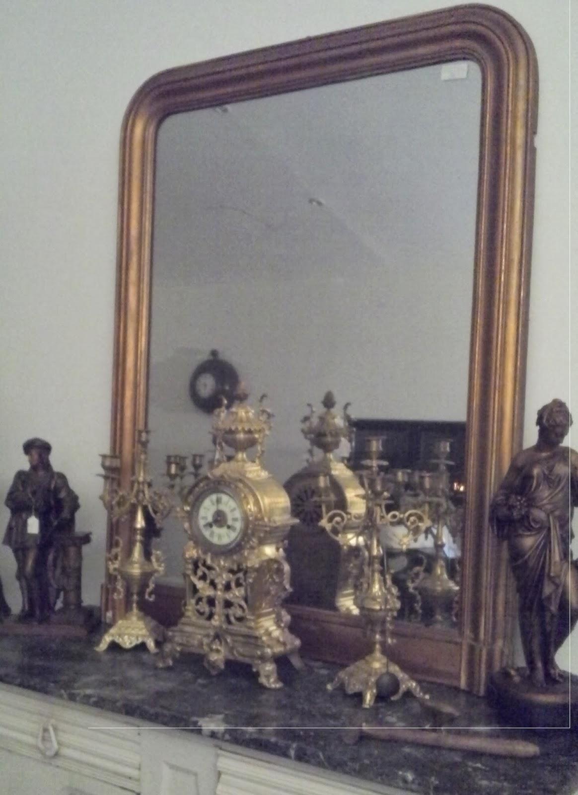 ancien miroir poque louis philippe dor parure de chemin e. Black Bedroom Furniture Sets. Home Design Ideas