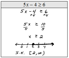 OpenAlgebra.com: Linear Inequalities (one variable)