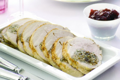Turkey breast with walnut, raisin and sage stuffing  meal ideas