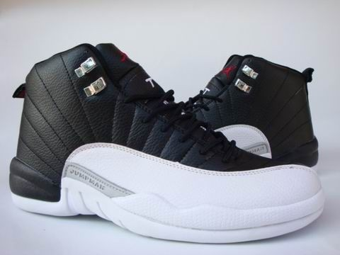 new style ddd09 f20af Air Jordan 12 Retro Alternate ... The crisp black and white leather  combination with grey and red detailing is easily one of ...