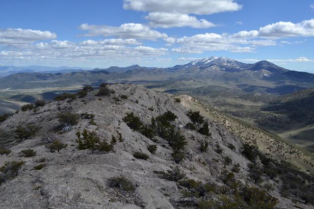 southerly along the ridge