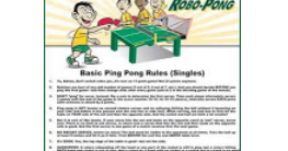 Frugal freebies freebie table tennis rules poster all for 10 table tennis rules