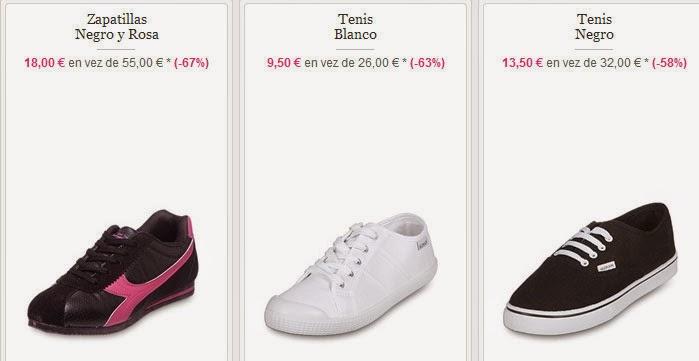 Zapatillas de tenis blancas y más modelos en oferta
