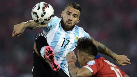 Nicolas Otamendi trong màu áo Tuyển Argentina