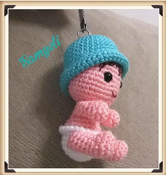 AMİGURUMİ KIZ BEBEK ANAHTARLIK YAPIMI (Crochet making baby girl ... | 720x683