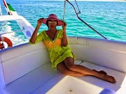 Chika Ike shares more pics from her $24k luxury yacht