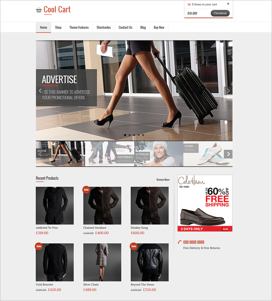 CoolCart Responsive WordPress Theme