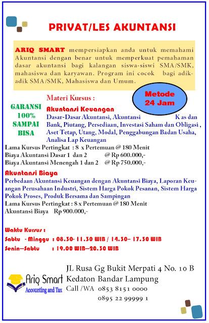 Privat/ Les Akuntansi di Bandar Lampung