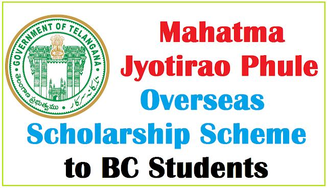 Mahatma Jyotirao Phule, TS BC Overseas Scholarships,MJP Scholarships