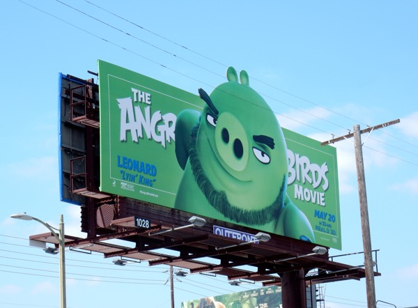Angry Birds Movie Leonard Lyin King billboard