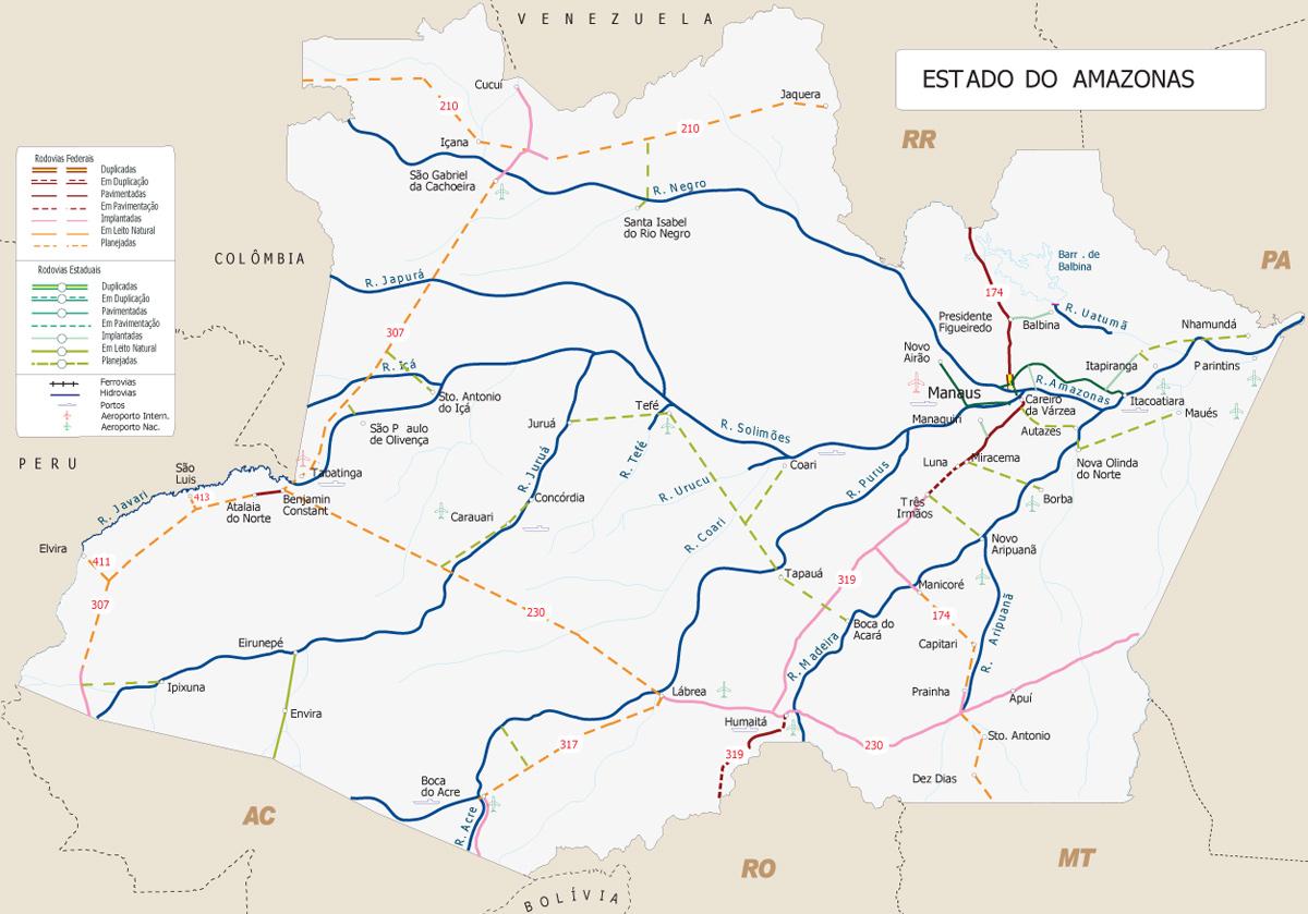 Amazonas | Mapas Geográficos do Amazonas