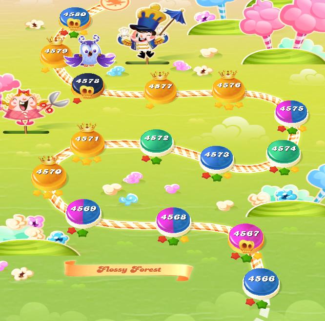 Candy Crush Saga level 4566-4580