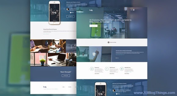 """Boxify"" One Page Website Template Free Download"