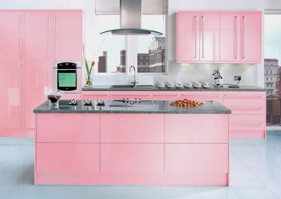 perlengkapan dapur warna pink