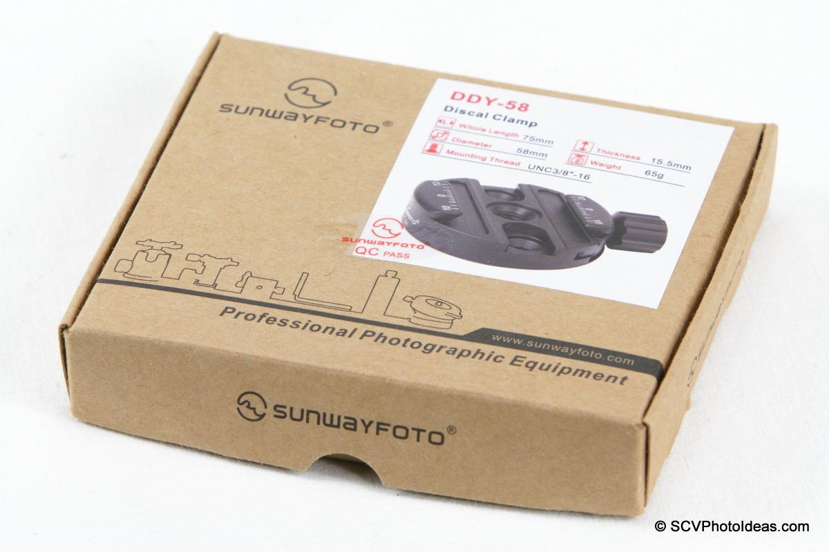 Sunwayfoto DDY-58 Discal QR Clamp box