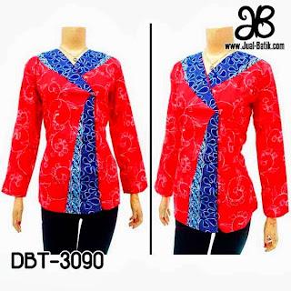 Blouse Batik Lengan Panjang Modern Mulai Rb Model Baju Batik