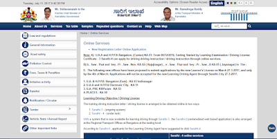 Karnataka Transport Official Website