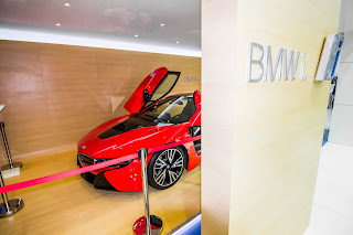 BMW i8 protonic red limited edition at Qatar Motor Show