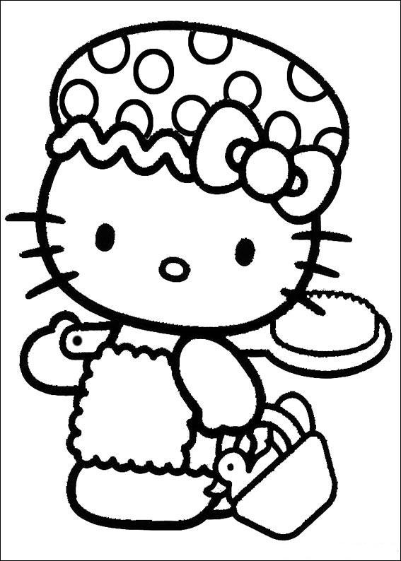 Dibujo Para Colorear Hello Kitty Semillas De Plantas