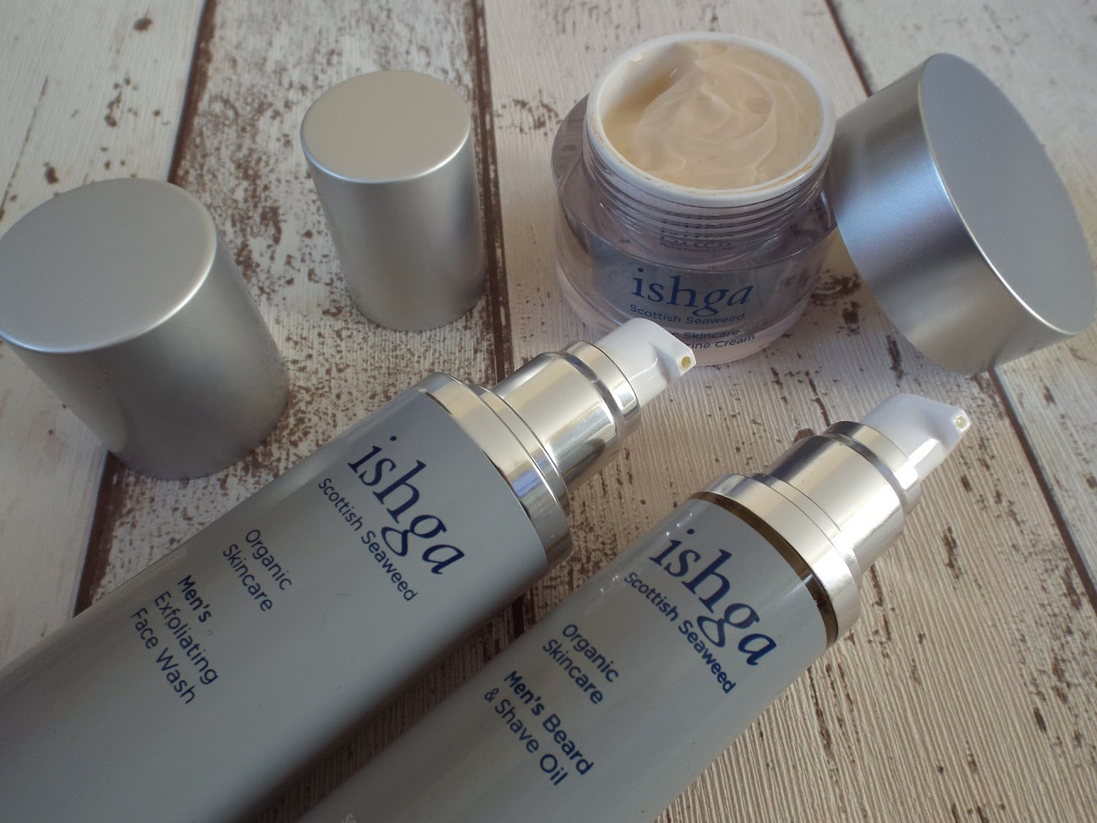 ISHGA Men's skincare products