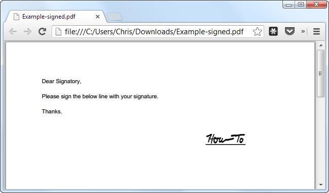 how to sign a pdf document without printing