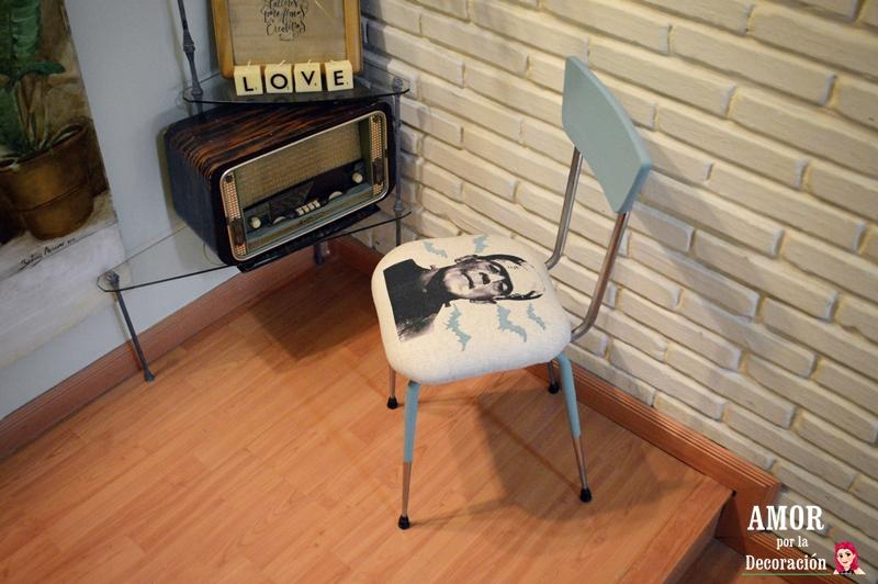 Cambio radical a una silla de formica a os 50 amor por la decoraci n - Sillas formica ...