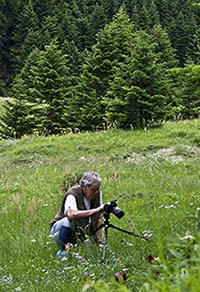 The blogger in action    on Mt. Parnassos