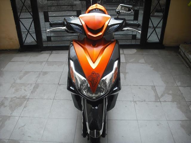 Sơn xe Luvias GTX màu cam đen cực đẹp